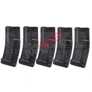 Cargador M4 Amoeba Abs 140bbs Pack 5 Negro