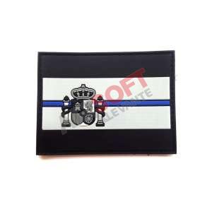Parche PVC Bandera ESPAÑA - Linea Azul