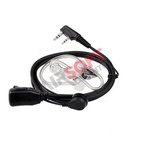 PTT con Auricular neumatico Baofeng - Kenwood 2 pin
