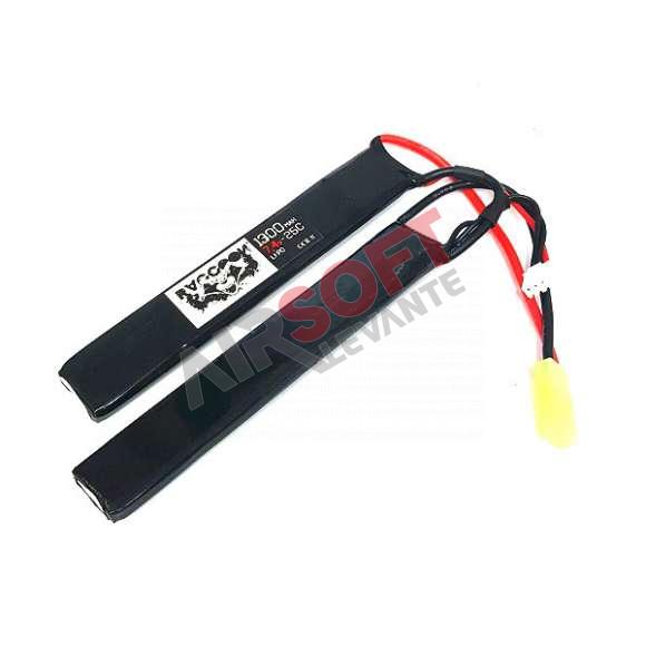 Batería Lipo 7.4 - 1300 mah 25C  - 2...