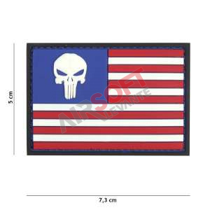Parche PVC - Bandera EEUU Punisher