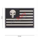 Parche PVC - Bandera EEUU Punisher - Negro