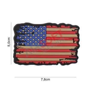Parche PVC - Bandera EEUU Desgarrada
