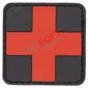 Parche PVC Cruz Sanitario - Rojo/Negro