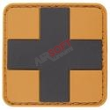Parche PVC Cruz Sanitario - Negro/TAN