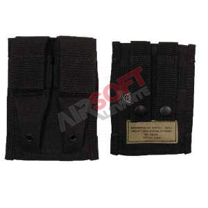 Funda Cargador Pistola Doble Molle Negro