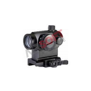 Visor Micro T1 Desmontable Alto Negro